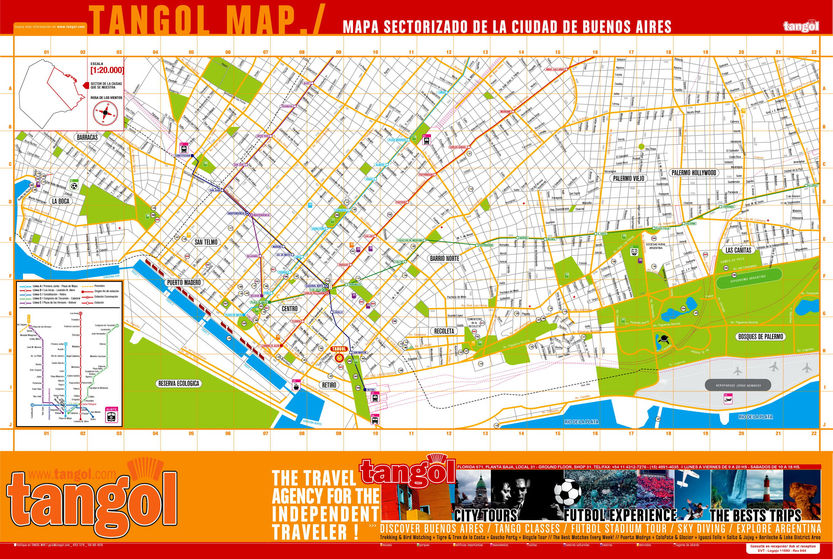Tangol Buenos Aires Tourist Map Buenos Aires mappery – Tourist Map Of Buenos Aires