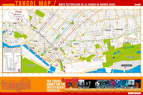 Tangol, Buenos Aires Tourist Map