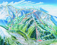 Taos Ski Area Ski Trail map 2006-07
