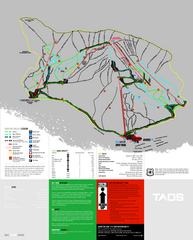 Taos Ski Valley Ski Trail Map