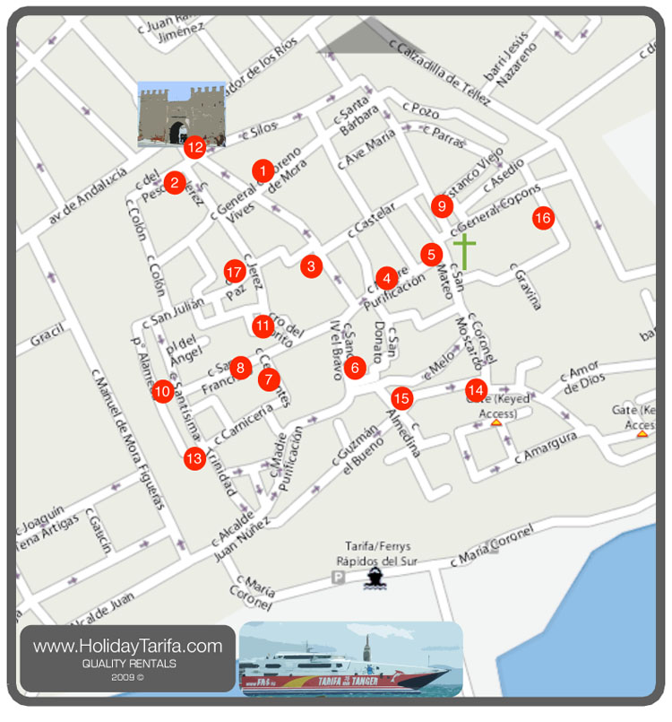 Tarifa Spain Restaurant Map Tarifa Mappery