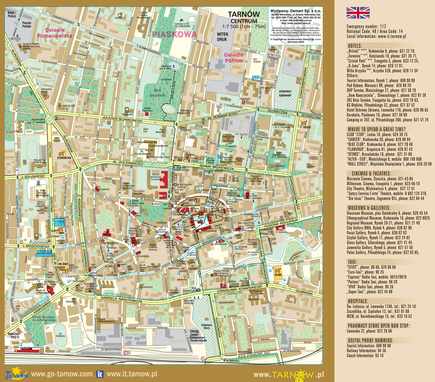 Tourist Map Krakow Tarnow Tourist Map Tarnow
