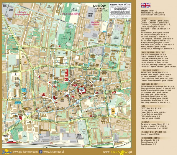 Tourist Map Krakow Tarnow Tourist Map