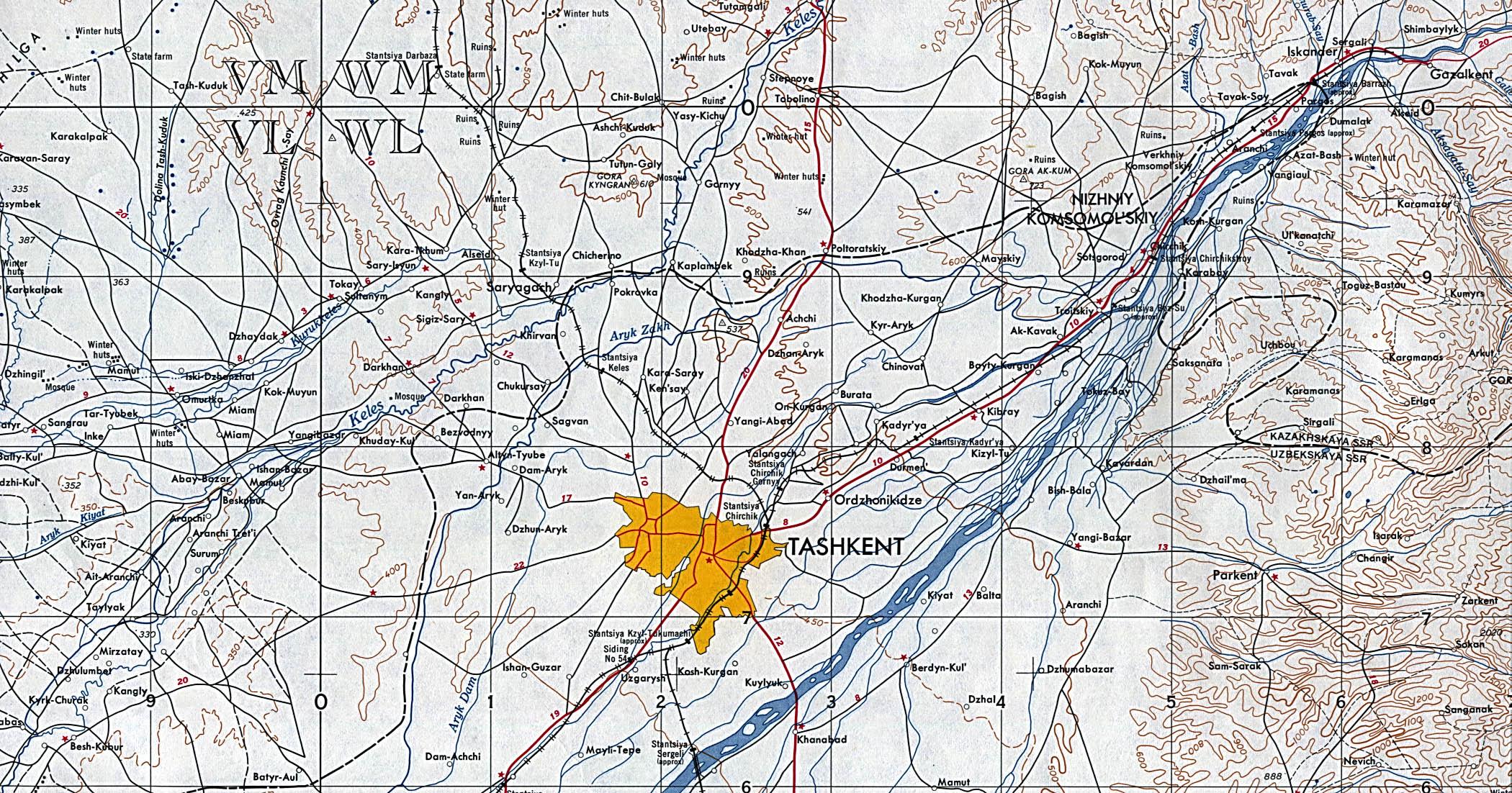 Tashkent Area Map Tashkent Uzbekistan mappery