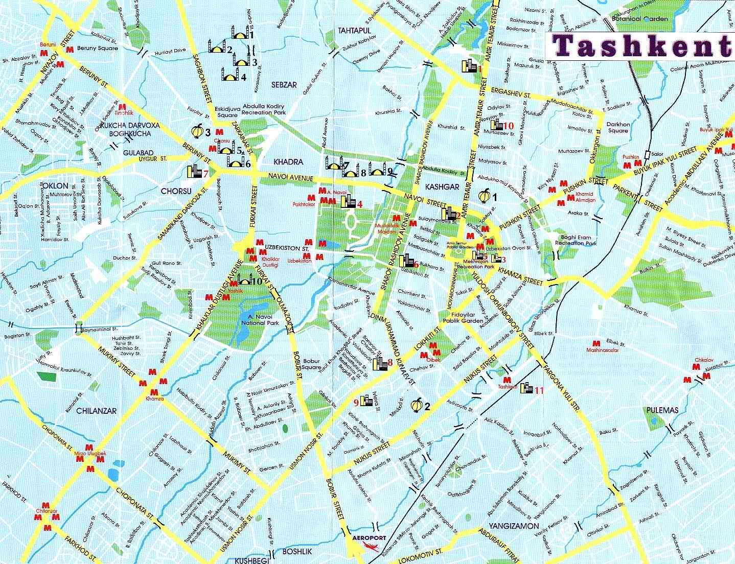 Tashkent Map | Metro Map | Bus Routes | Metrobus Way Map | Train ... Taskent Uzbekistan Metro Map