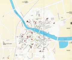 Tavira, Portugal Tourist Map