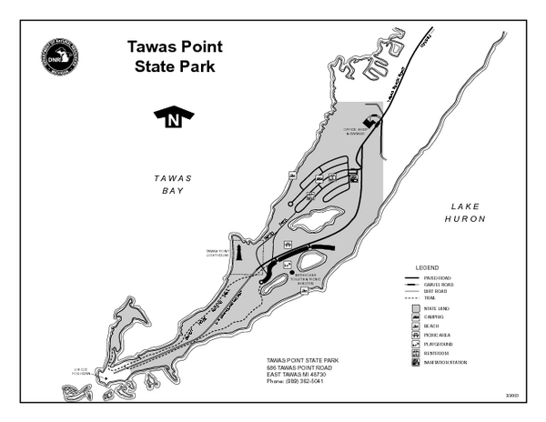 Tawas Point State Park, Michigan Site Map