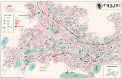 Tbilisi Tourist Map