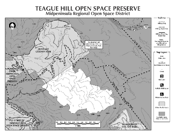 Teague Hill Open Space Preserve Map
