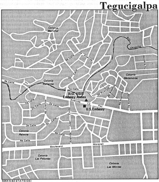 tegucigalpa honduras map. Fullsize Tegucigalpa Honduras
