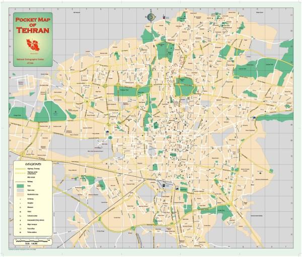 Tehran street map tehran iran mappery fullsize tehran street map gumiabroncs Choice Image
