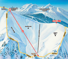 Telluride Revelation Bowl Ski Trail Map