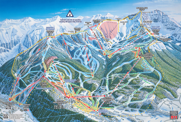 Telluride Ski Trail Map