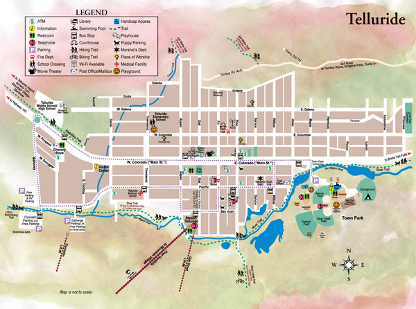 Telluride Town Map Telluride CO mappery – Tourist Map Of Colorado