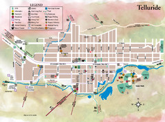 Telluride Town Map