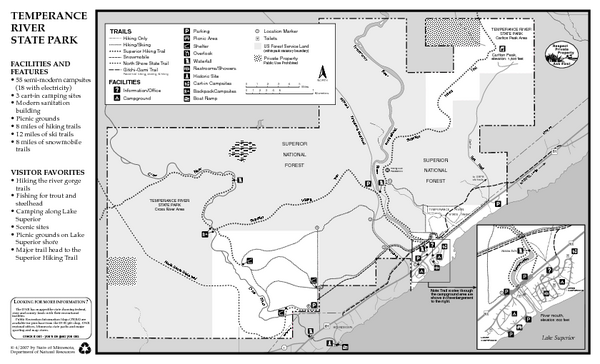 Temperance River State Park Map