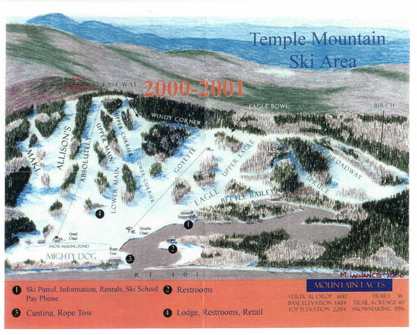 Temple Mountain Last year open—Credited to chris lundquist Ski Trail Map