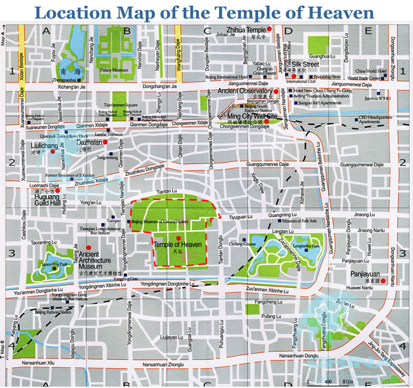 Temple of Heaven Area Tourist Map