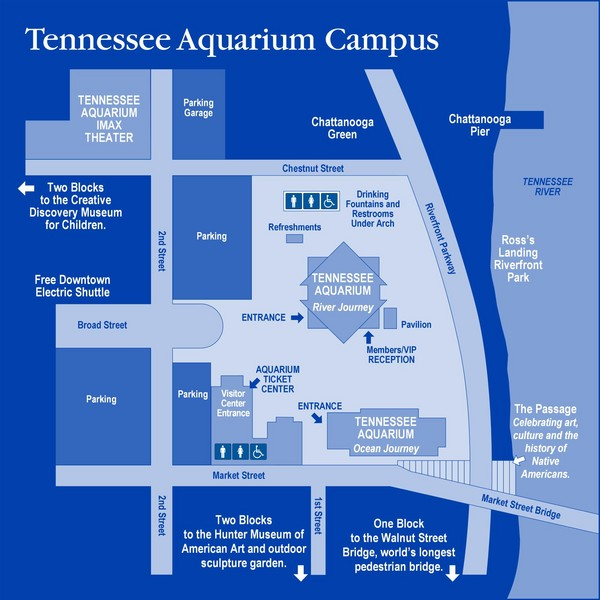 Tennessee Aquarium Campus Map