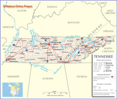Tennessee Tourist Map