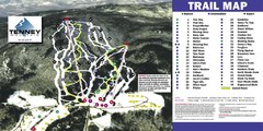 Tenney Mountain Ski Trail Map