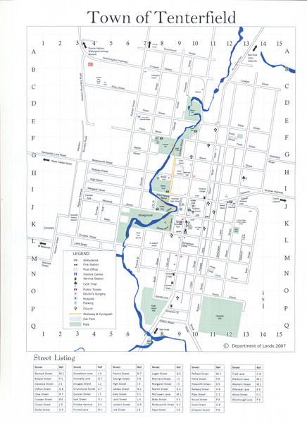Tenterfield Town Map