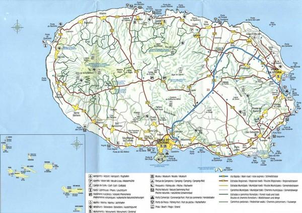 Terceira Island Map Terceira Mappery