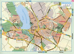 Ternopil Ukraine Map