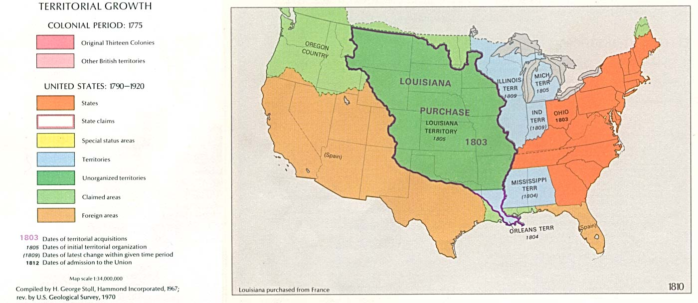 Territorial expansion in eastern united states 1810 for American regional cuisine history