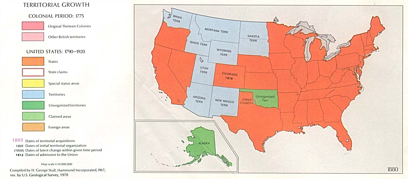 a history of the territorial expansion of the united states from 1800 1850 Start studying expansion of the us 1800-1850 learn  4 waves of settlers in us expansion  between the united states and spain guaranteed spain's exclusive.