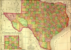Texas 1895 Historical Map