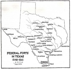 Texas Historical Forts map