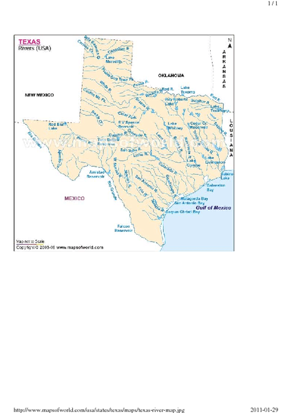 Texas River Map - texas • mappery