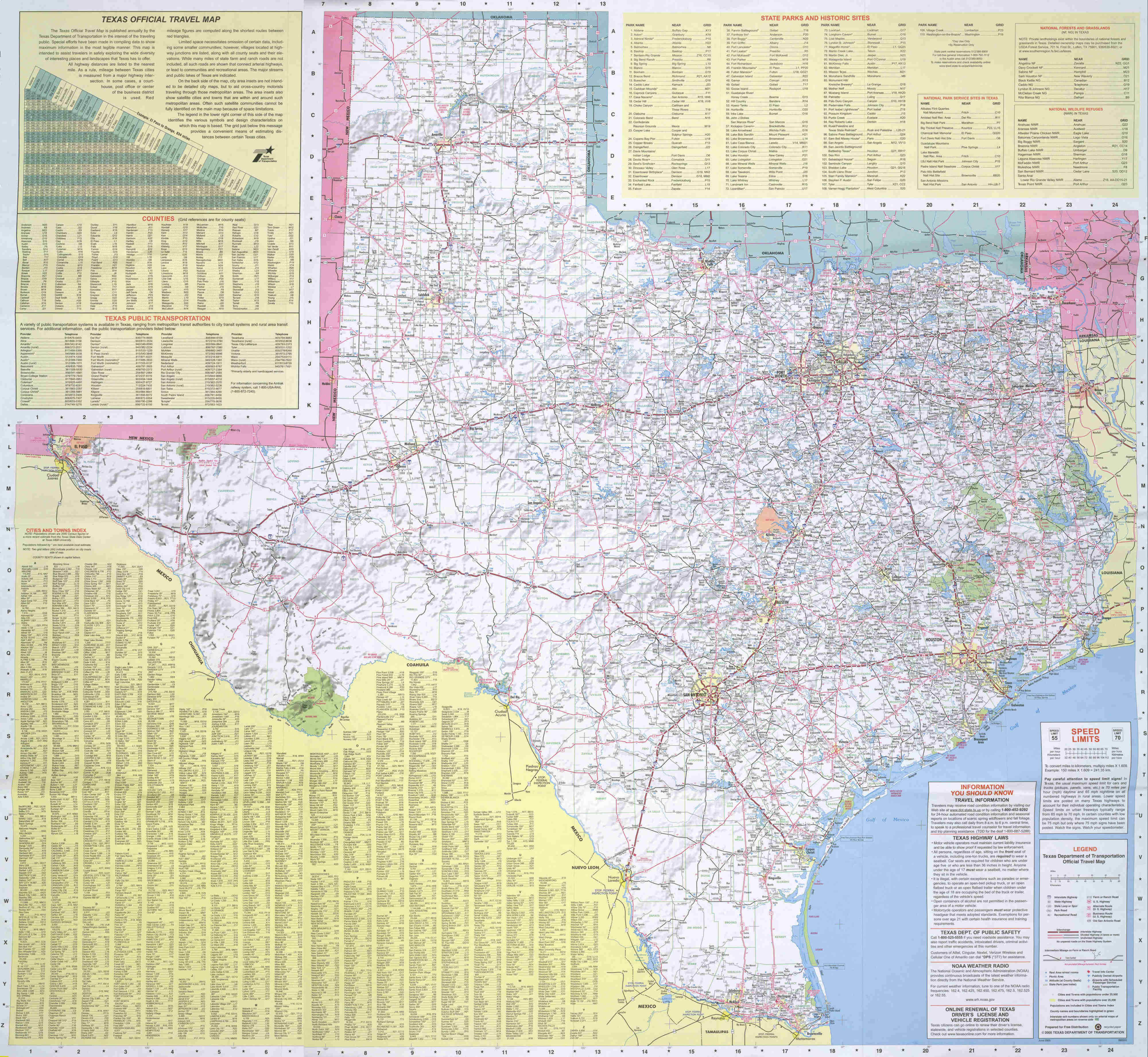 Texas Road Map - Texas • mappery