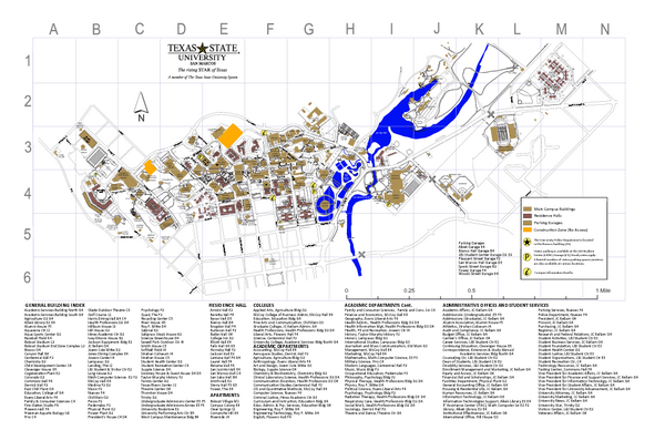 Texas State University Map Texas State University Mappery - Full map of texas