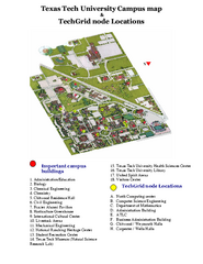 Texas Tech University Parking- Visitor Map - Lubbock Texas USA • mappery