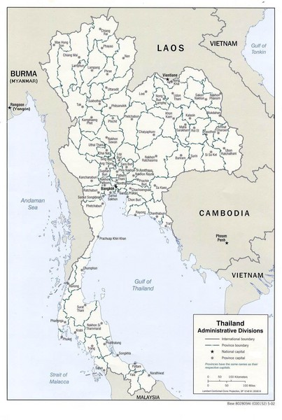 Thailand Guide Map