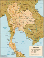 Thailand Map General Overview
