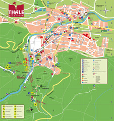 Thale Tourist Map