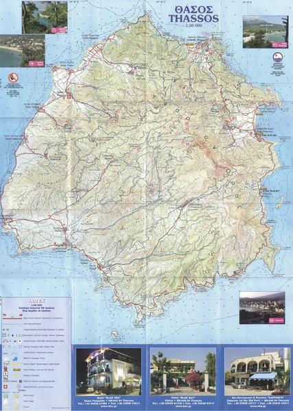 Thassos Topo Map Thassos Greece mappery