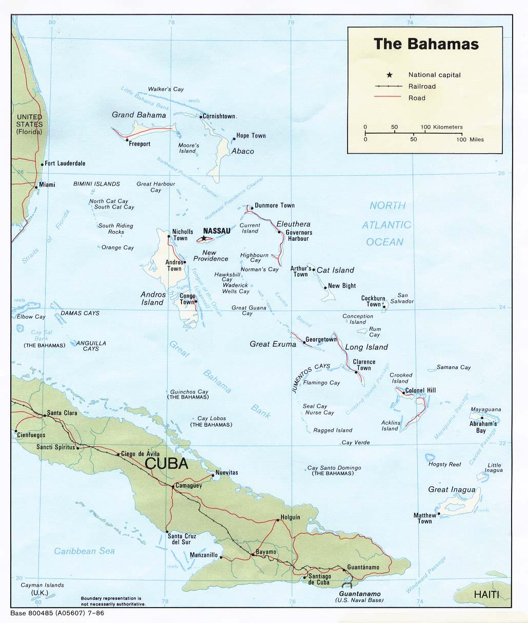 The Bahamas Tourist Map The Bahamas mappery