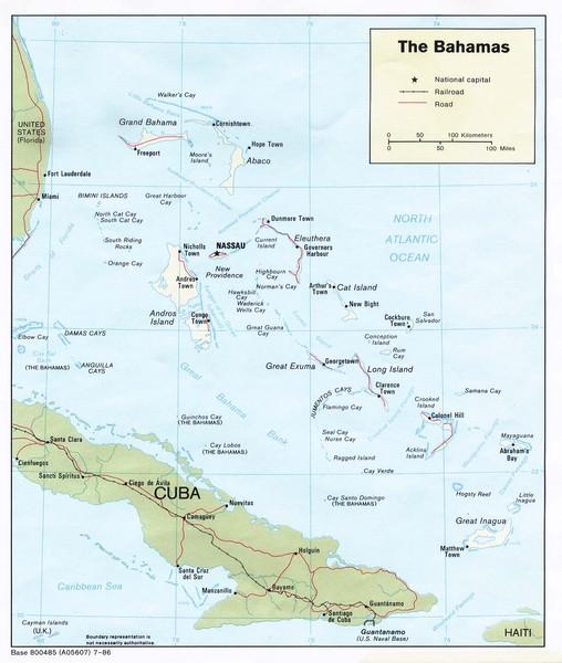 Nassau New Providence Island Map Nassau New Providence Island