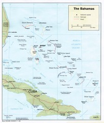 The Bahamas Tourist Map