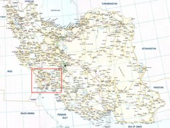 The Bakhtiari Nomads Kuch in Iran Map