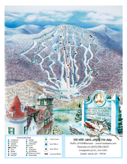 The Balsams—Wilderness Ski Trail Map