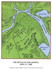 The Battle of San Jacinto, Texas Historical Map