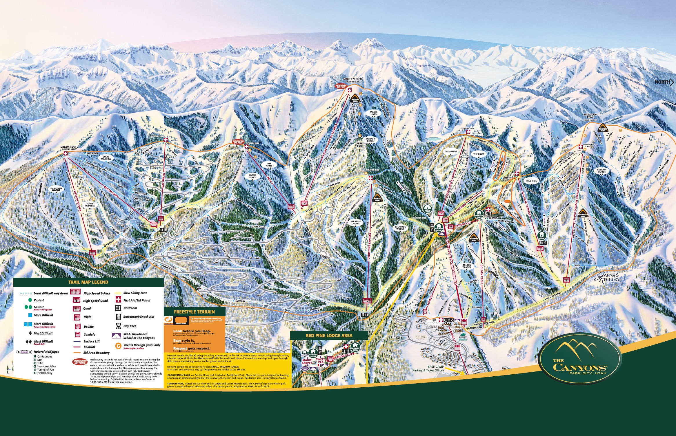 the canyons ski trail map 4000 the canyons resort dr park city