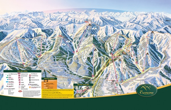 The Canyons Ski Trail Map