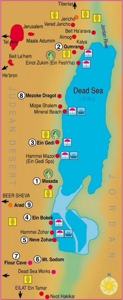 The Dead Sea Map  The Dead Sea  mappery