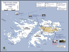 The Falklands War: 1982 Map